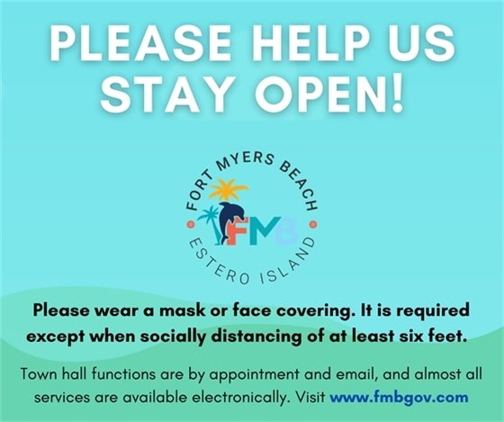 Please help us stay open by wearing masks and social distancing.