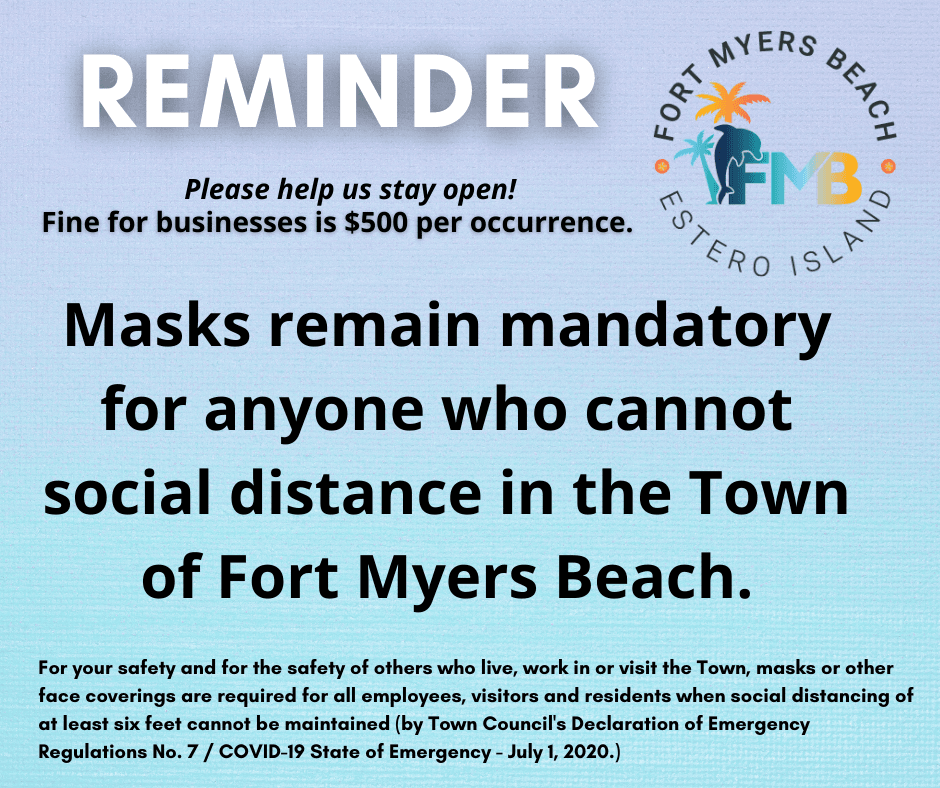 Masks required reminder 11-2-20