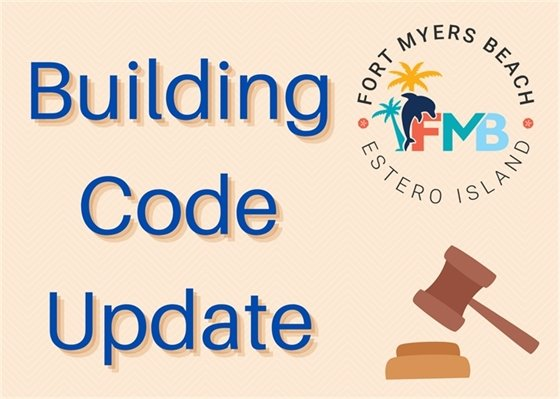 graphic with logo and the words building code update