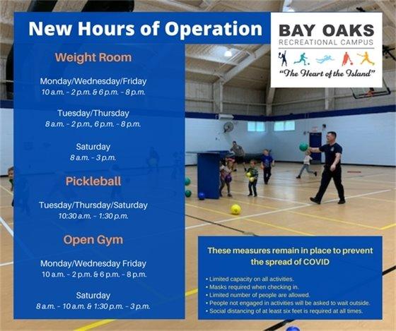Bay Oaks New Hours