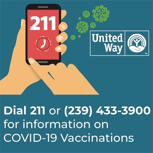 Dial 211 or 239-433-3900 for updates on covid vaccinations in lee county