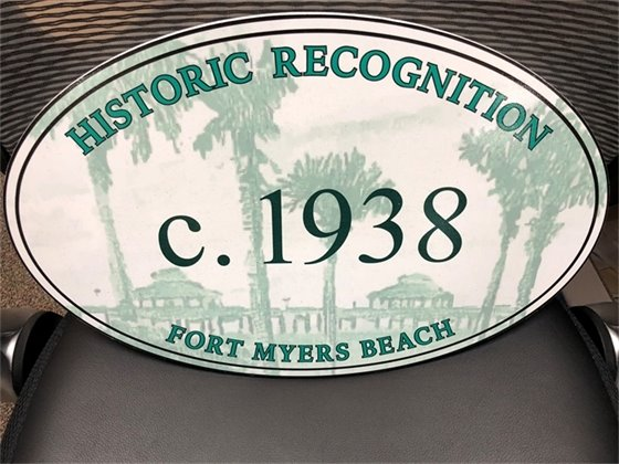 Plaque that homes receive from town for restoring a historically significant structure