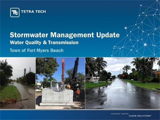 First page of Tetra Tech's powerpoint presentation about their stormwater management project