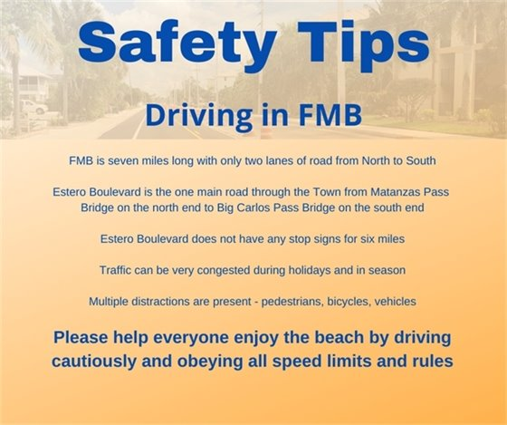 safety tips for driving on FMB