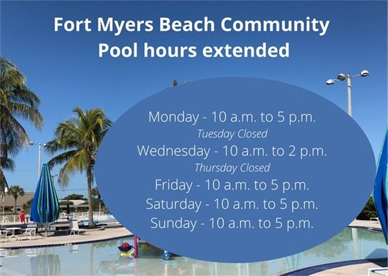 FMB Community Pool hours extended