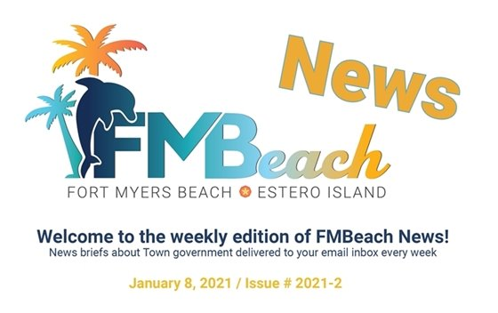 Graphic header of FMBeach News January 8 2021