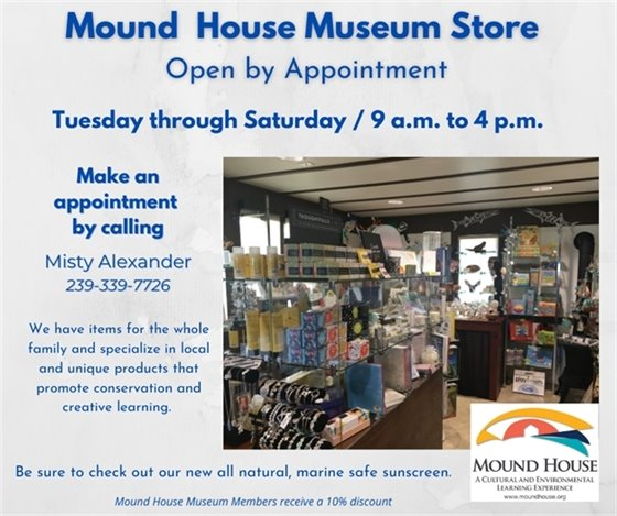 Mound House Museum Store is open by appointment