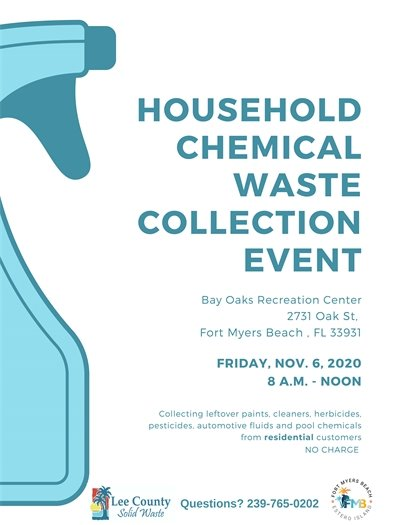Household chemical waste collection event on November 6