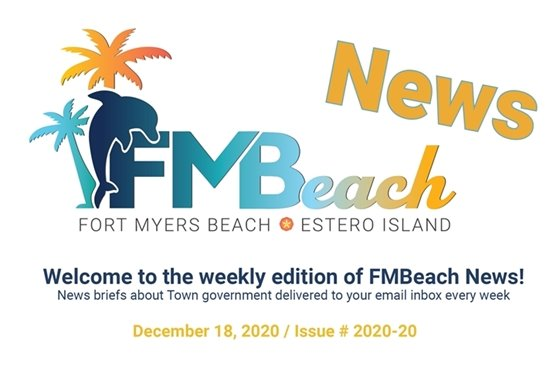 Graphic header of FMBeach News December 18, 2020