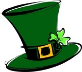 St Patrick's Day hat green with clover