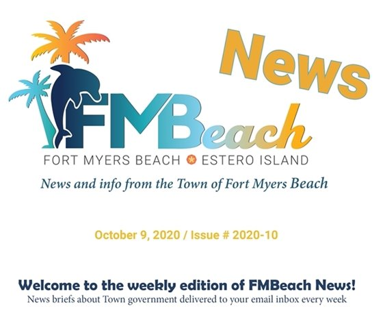 Header graphic for FMBeach News October 9, 2020
