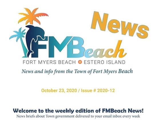 Graphic header of FMBeach News October 23, 2020