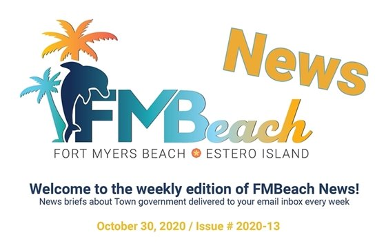 Graphic header of FMBeach News October 30, 2020