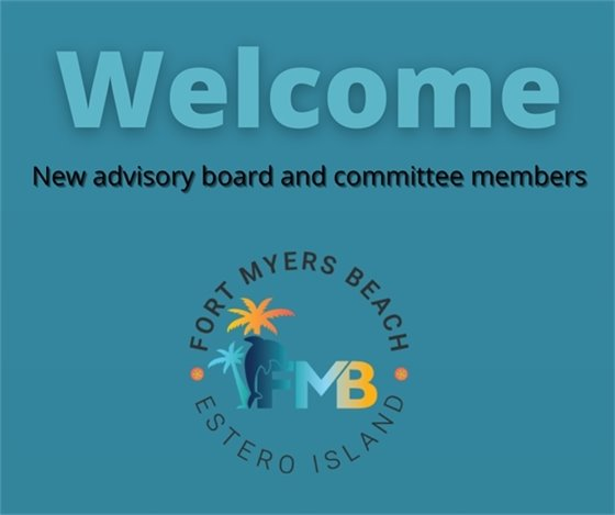 Welcome new advisory board and committee members graphic in blue