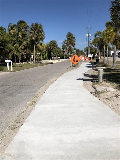 Connecticut Street sidewalk almost complete February 2021