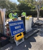 entrance sign to hazardous waste collection event