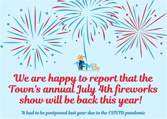 July 4th fireworks celebration will be held this year after postponement last year due to COVID
