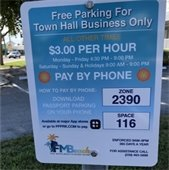 Town Hall parking plate
