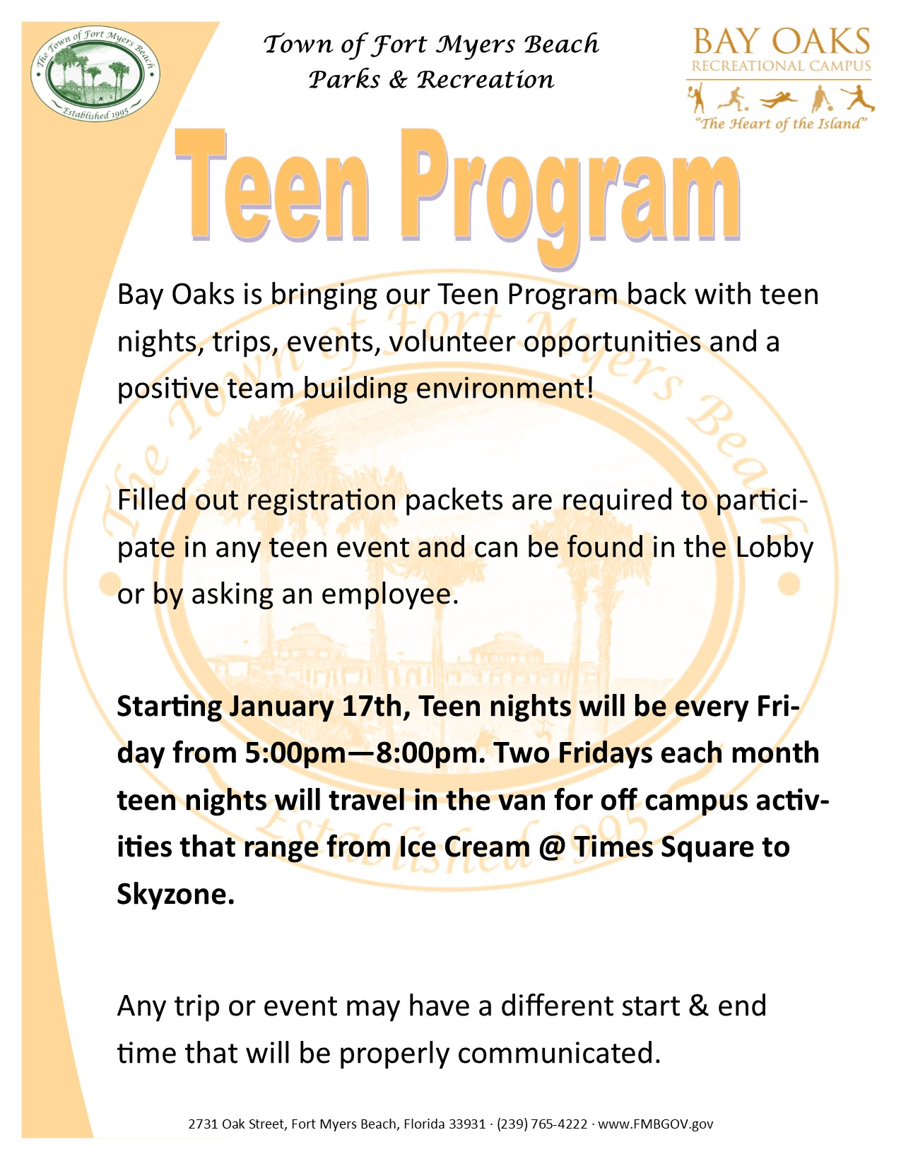 teen program flyer
