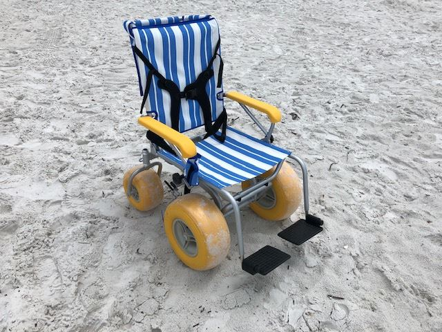 Wheelchairs adapted for the beach environment can now be rented from the Town.